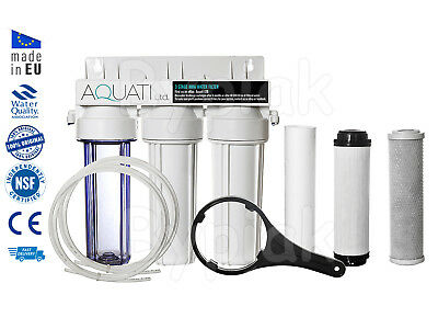 3 Stage HMA Heavy Metal Reduction Water Filter System, Koi Ponds & Dechlorinator