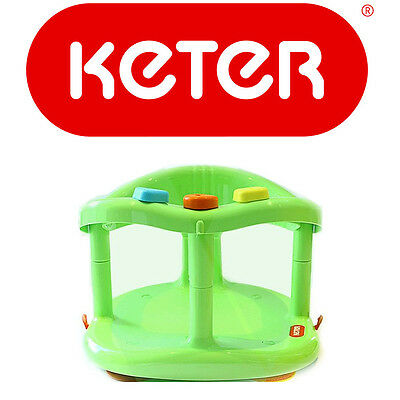 Green Baby bath ring,Unisex Baby bath seat ring KETER-Limited Quantity Available