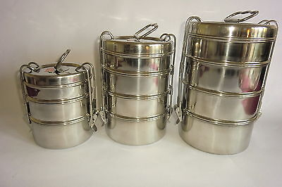 Quality Tiffin Stainless Steel Lunch Box From India -Well Made Original Design