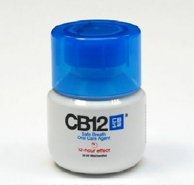 CB12 Mouthwash Original Mint Menthol 50ml (min,travel size, refillable)