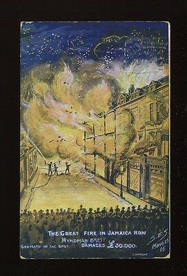 Warwicks Warwickshire BIRMINGHAM Jamaica Row Fire Fighters artist 1906 PPC