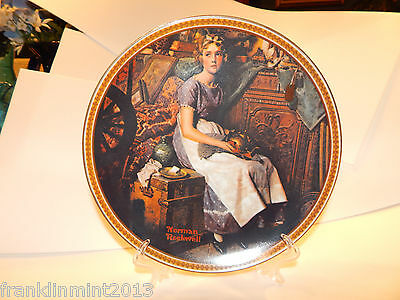 """Norman Rockwell """"Dreaming in the Attic """" Collector Plate Limited Edition #213103"""