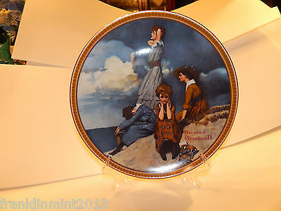 """Norman Rockwell """"WAITING ON THE SHORE"""" Collector Plate Limited Edition #18017K"""