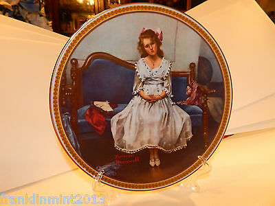 """Norman Rockwell """"WAITING AT THE DANCE"""" Collector Plate Limited Edition #17149M"""