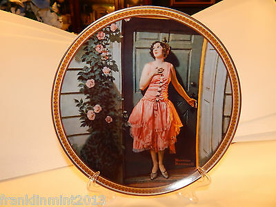 """Norman Rockwell """"STANDING IN THE DOORWAY"""" Collector Plate Limited Edition #640E"""