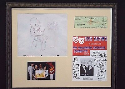 Walter Lantz collection,autograph, drawing, USO Shows