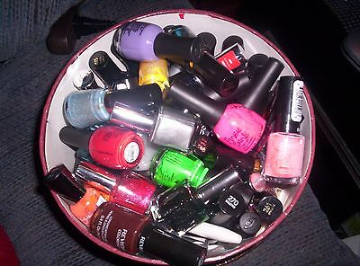 HUGE lot of used Nail polish....lot of 50...many colors...many brands