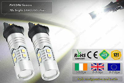 2x PWY24W Cree Golf 7 4500k LED Volvo V60 DRL Side Lights Parking CanBus Bulbs