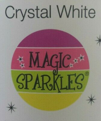 Edible glitter flakes MAGIC SPARKLES Crystal White - Choose weight Gripseal Bag