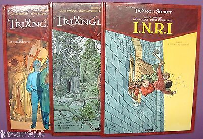LOT 4 BD - LE TRIANGLE SECRET n°1-2 - INRI I.N.R.I. n°1-3 - GLENAT