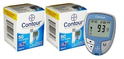 Bayer Contour Meter + 100 Test Strips (2x50)  EXP: 2/2018