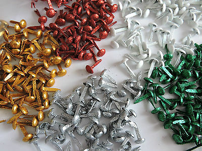 Glitter Crafting Brads x 40. Available in 5 Colourways