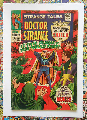 Strange Tales #160 - Sept 1967 - Baron Mordo Appearance! - Fn+ (6.5) Cents!