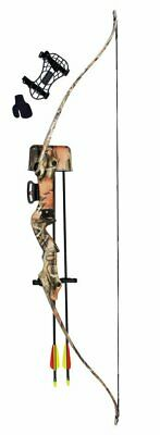 Black Warrior Recurve Youth Bow / Longbow Kit - Black