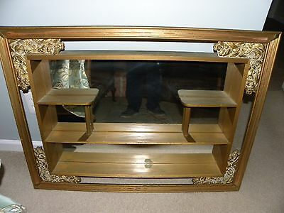 Illinois Molding Company Vintage French Provincial Style Shadow Box Wall Mirror