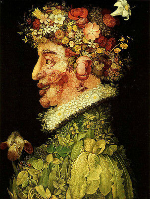 "Wonderful Oil panting Giuseppe Arcimboldo - The Spring abstract portrait 24""x36"""