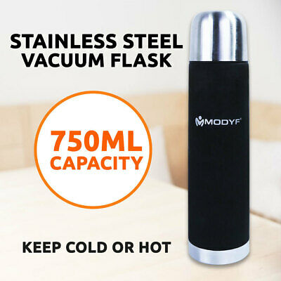 Flask Vacuum Stainless Steel 750ml Rubber Coating, Handy Cup Mug Portable Bottle