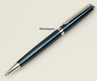 Waterman Hemisphere ballpoint pen in Metallic - Blue - Silver