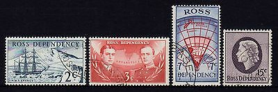 Ross Dependency 1967 Definitives Set 4 Fine Used