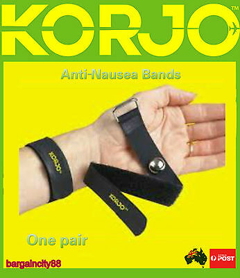 2 x Anti Nausea Travel Sickness Bands Korjo Motion Sea Plane Car Sick Wristbands