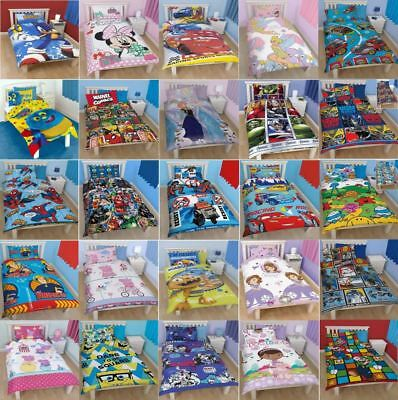Cartoon Character Single Duvet Set Quilt Cover Kids Childrens Pillowcase Bedding