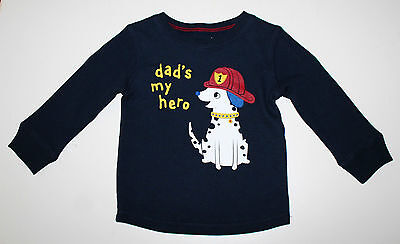 Jumping Beans, 18 Month, Navy/ Firedog Thermal Shirt, New without Tags