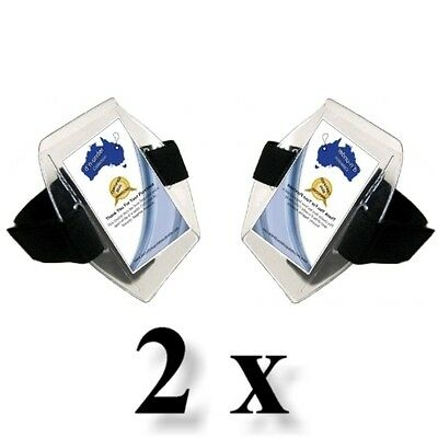 2 x Arm Bands - ( Secure Closure, Large ID Window )