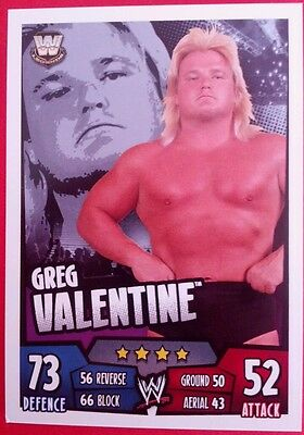 WWE Topps Slam Attax Rumble Trading Card Greg Valentine 2011
