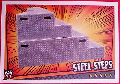 WWE Topps Slam Attax Rumble Trading Card Steel Steps Prop Card 2011