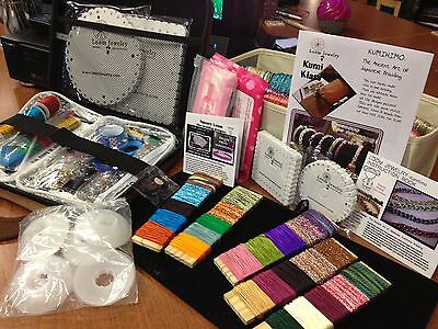 """Kumihimo Case """"FULLY STOCKED"""" Limited Edition 175+ pcs pen kit & beads,findings"""