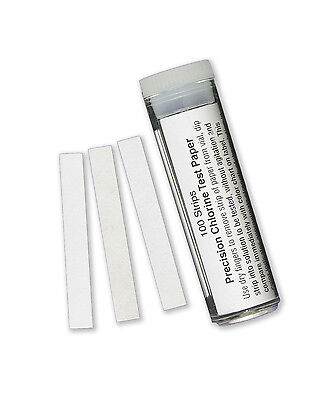 Chlorine Test Strips, Sanitizer Strength, 100/vial