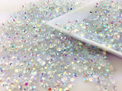 DIY 800/4000pcs/3mm lucency Jelly AB Resin Rhinestones Drill Scrapbook for phone