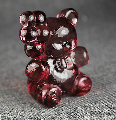 Bear figurine in glass made in USA by Boyd Crystal Art Glass