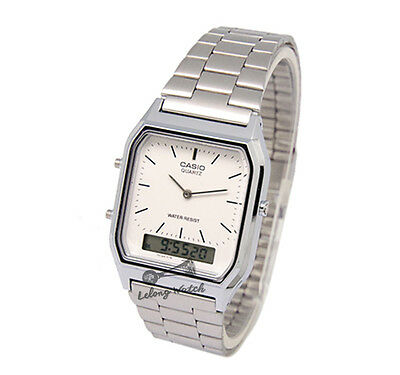 -Casio AQ230A-7D Dual Time Watch Brand New & 100% Authentic