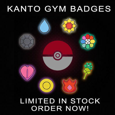 All 8 Pokemon Gym Badges Kanto Gen 1 | Cosplay Brand New Anime