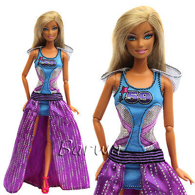 High Fashion Evening Party Clothes Wears Dress Outfit For Barbie Doll Gift