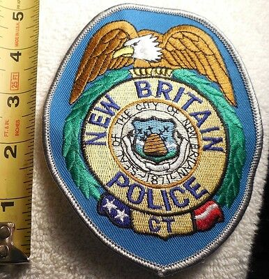 NEW BRITAIN CONNECTICUT POLICE PATCH (HIGHWAY PATROL, POLICE, EMS, SHERIFF)