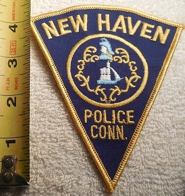 NEW HAVEN CONNECTICUT POLICE PATCH (HIGHWAY PATROL, POLICE, EMS, SHERIFF)