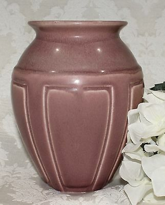 Rare Vintage Rookwood Pottery #2374 Panel Vase - Rose Matte Glaze Finish
