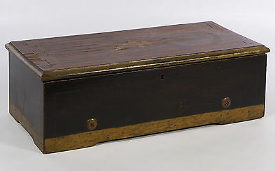 WORKING ANTIQUE ca 1880 SWISS 6 TUNE MUSIC BOX IN MAHOGANY INLAID CASE