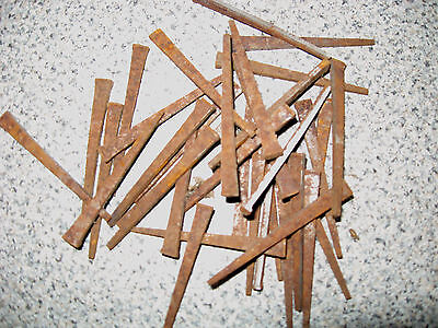 LOT OF 60 ANTIQUE VINTAGE HARDWARE SQUARE CUT STEEL NAILS FREE PRIORITY SHIPPING