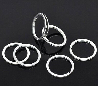 10pcs 25mm Cool Metal Split Rings Keyring Keychain Key Holder Keyfob Accessories