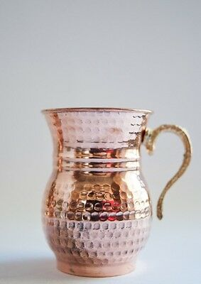 SET OF 1 TURKISH MOSKOW MULE PURE SOLID COPPER MUG CUP BEER - US FAST SHIPPING -