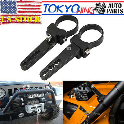 """1.75"""" LED Work Driving Light Bar Bull Bar Clamps Roll Cage Mounting Brackets"""