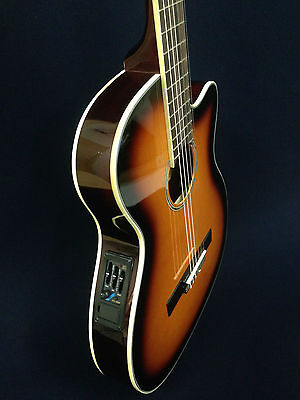 Caraya 551BCEQ/BS Thin body Acoustic-Electric Classical Guitar,Sunburst+Free Bag