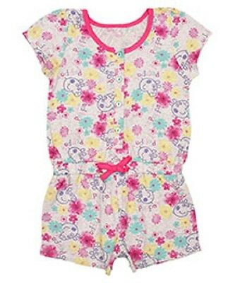 Girls official PEPPA PIG stone & pink playsuit 4-5 & 5-6 LAST FEW!!!