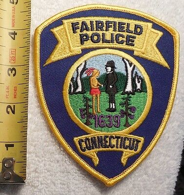 FAIRFIELD CONNECTICUT POLICE PATCH (HIGHWAY PATROL, POLICE, EMS, SHERIFF)