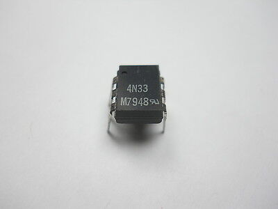 4N33 Optocoupler Darlington NPN Output (QTY 10 ea)