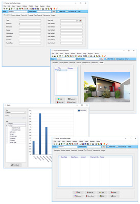 Real Estate Investment Property Management Maintenance Rent Tracking Software CD