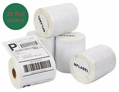 20 Rolls of 220 4x6 Thermal Shipping Labels Compatible Dymo 4XL 1744907 USPS